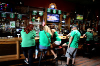 The Buffalo in downtown SLO serves green drinks to green shirts.
