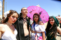 The costumed festival warriors celebrate the goddess Venus, who embodies love.
