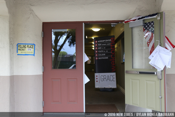 Grace Baptist Church in San Luis Obispo volunteered to be one of many polling places in the county.