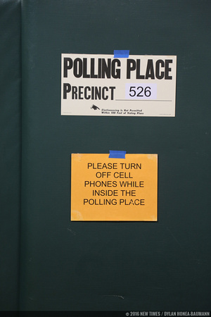 Get your cell phone out of politics! Or at least out of the polling places.
