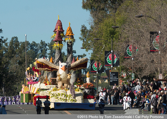 The 2015 Cal Poly Rose Parade Float