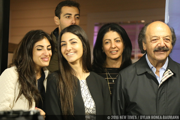 From right to left: Katcho Achadjian is supported by his wife Araxie, daughter Nyri, son Hratch, and daughter-in-law Nina on primary election night.