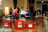 More volunteers collect votes at the county offices downtown, ready to get them tabulated.