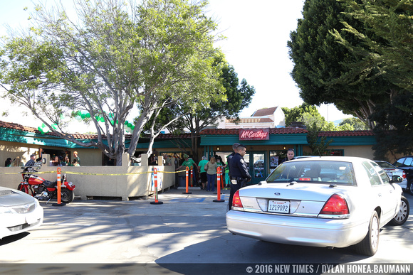 Law enforcement made a showing at McCarthy's, SLO's Irish Pub.