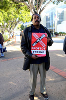 Earl White drove from Fresno to attend the rally and represent Fresno Against Fracking.